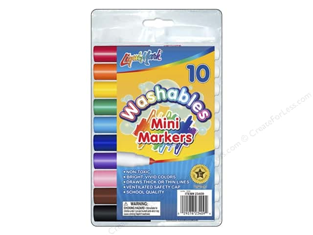 Liquimark Markers Set Mini Washables Pouch 10pc