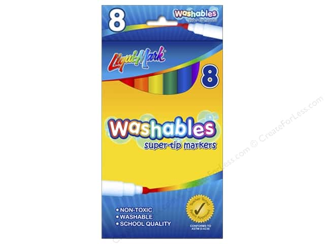 Liquimark Markers Set Super Tip Washables 8pc