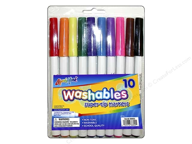 Liquimark Markers Set Super Tip Washables Pouch 10pc