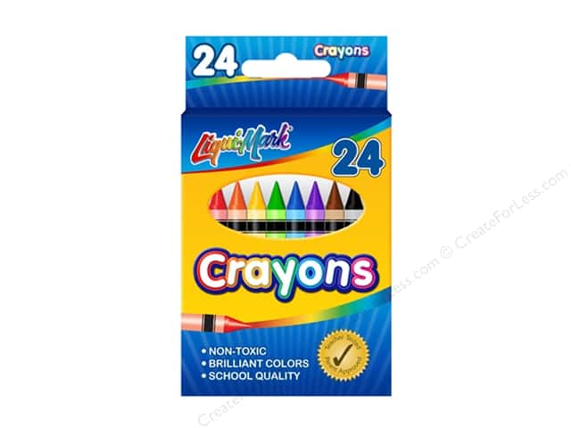 Liquimark Crayon Set 24 pc