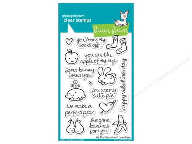 Lawn Fawn Clear Stamp My Silly Valentine
