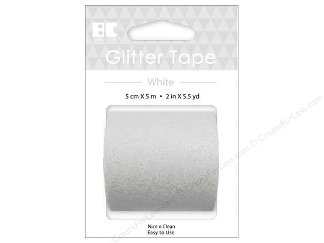 Best Creation Glitter Tape 2 in. x 5 1/2 yd. White