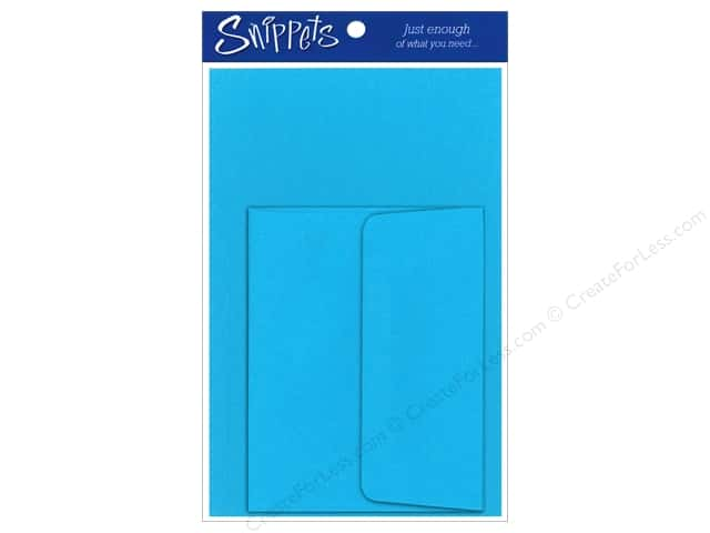 4 1/4 x 5 1/2 in. Blank Card & Envelopes by Paper Accents 3 pc. Blue