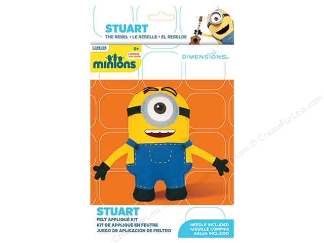 Dimensions Applique Kit Felt Minions Stuart
