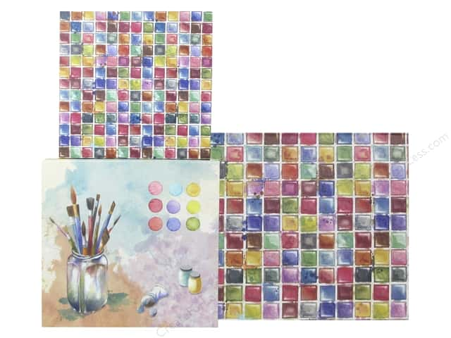 Molly & Rex Organizer Square Flap Box Watercolor Palette Set Of 3