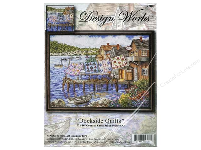Design Works Cross Stitch Kit 12 x 16 in. Dockside Quilts