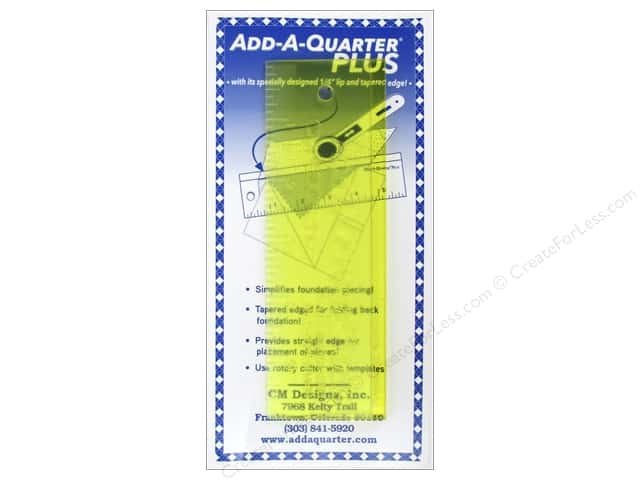 CM Designs Add-A-Quarter Ruler Plus 6 in.