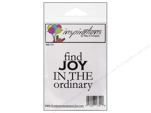 Riley & Company Cling Stamps Inspirations Find The Joy