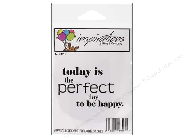 Riley & Company Cling Stamps Inspirations Today Is The Perfect Day