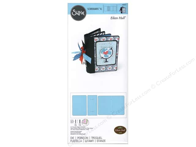 Sizzix Scoreboards Dies XL Book Passport by Eileen Hull