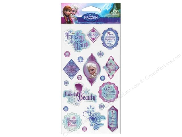 EK Disney Sticker Epoxy Phrases Elsa