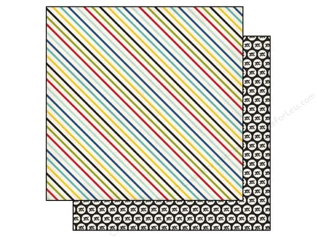 Echo Park 12 x 12 in. Paper Pirates Life Pirate Stripes (25 sheets)