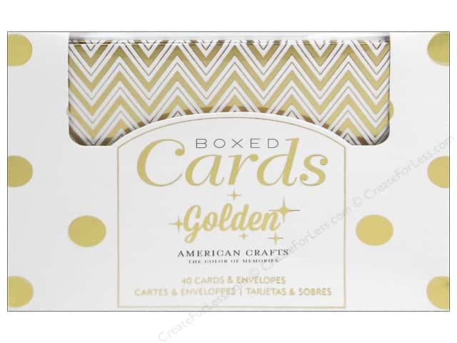 American Crafts Cards & Envelopes 40 pc. Golden
