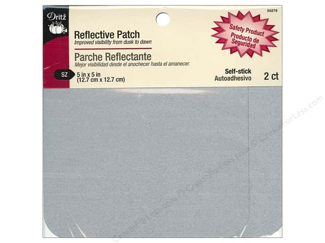 "Dritz Patch Reflective 5""x 5"" Silver 2pc"