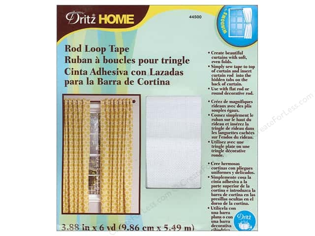 Dritz Home Rod Loop Tape 3 7/8 in. x 6 yd.