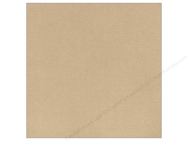 Bazzill 12 x 12 in. Cardstock Dotted Swiss Kraft (25 sheets)
