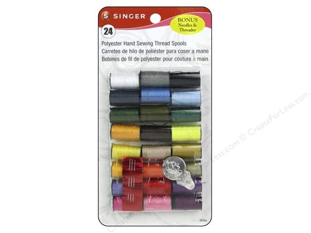 Singer Thread All Purpose Polyester Hand Sewing Assorted 24 pc.