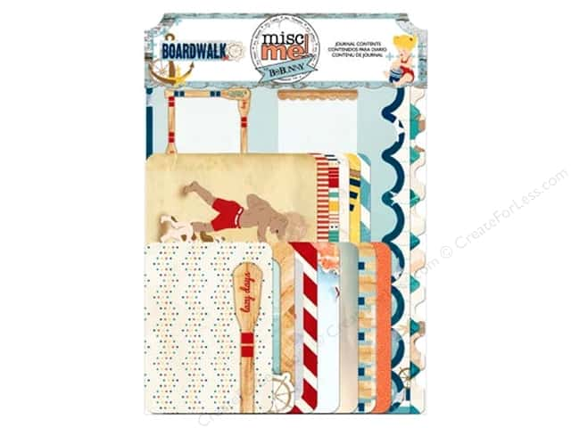 Bo Bunny Misc Me Journal Contents Boardwalk