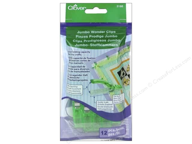 Clover Jumbo Wonder Clips 12 pc. Green