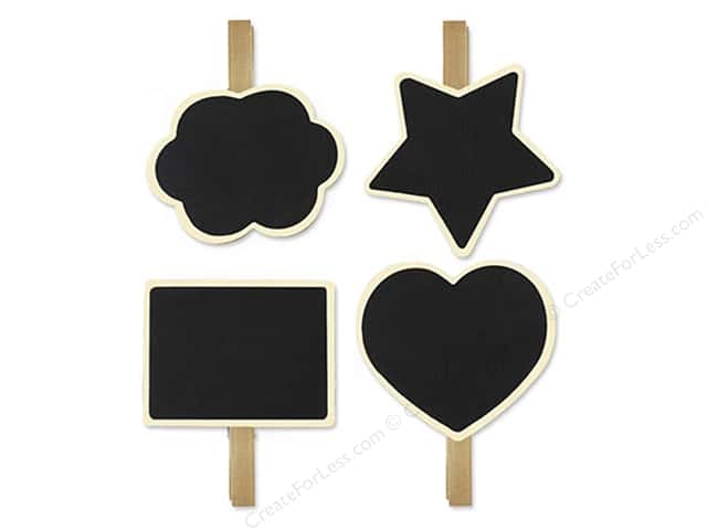 Multicraft Chalkboard Surface Tag Clothespins Style #1
