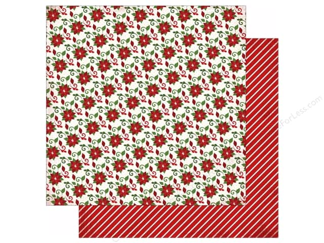 Carta Bella 12 x 12 in. Paper Have A Merry Christmas Poinsettias (25 sheets)