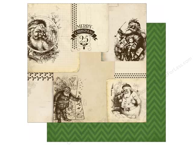 Carta Bella 12 x 12 in. Paper Have A Merry Christmas Vintage Santas (25 sheets)