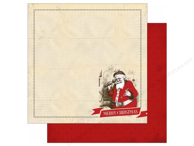 Carta Bella 12 x 12 in. Paper Have A Merry Christmas Santa Claus (25 sheets)