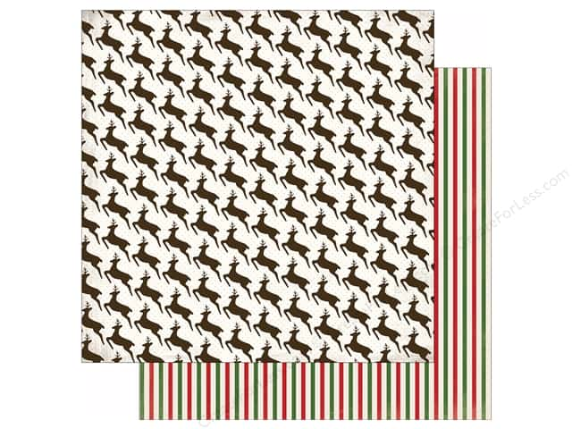Carta Bella 12 x 12 in. Paper Have A Merry Christmas Leaping Reindeer (25 sheets)
