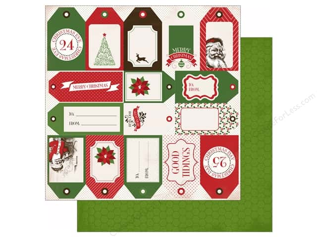 Carta Bella 12 x 12 in. Paper Have A Merry Christmas Holiday Tags (25 sheets)