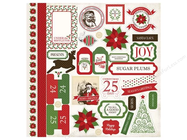 Carta Bella Stickers Have A Merry Christmas Elements (15 sheets)