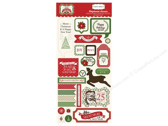 Carta Bella Chipboard Accents Have A Merry Christmas
