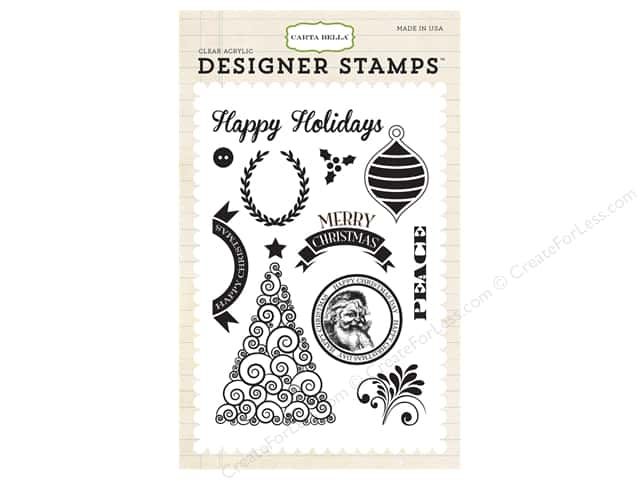 Carta Bella Designer Stamps Have A Merry Christmas Happy Christmas
