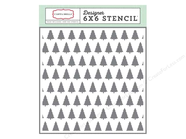 Carta Bella Designer Stencil Have A Merry Christmas Winter Trees