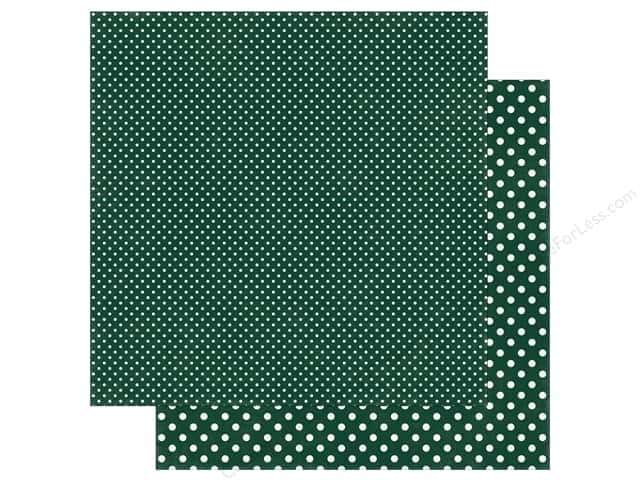 Echo Park 12 x 12 in. Paper Dots & Stripes Fall Collection Evergreen (25 sheets)