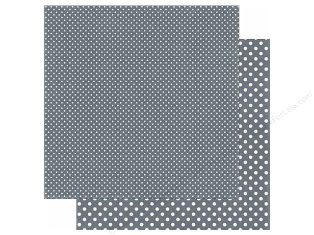 Echo Park 12 x 12 in. Paper Dots & Stripes Winter Collection Charcoal (25 sheets)