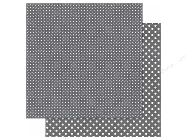 Echo Park 12 x 12 in. Paper Dots & Stripes Valentine Collection Granite (25 sheets)