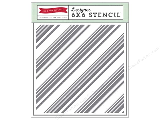 Echo Park Designer Stencil 6 x 6 in. Diagonal Stripes