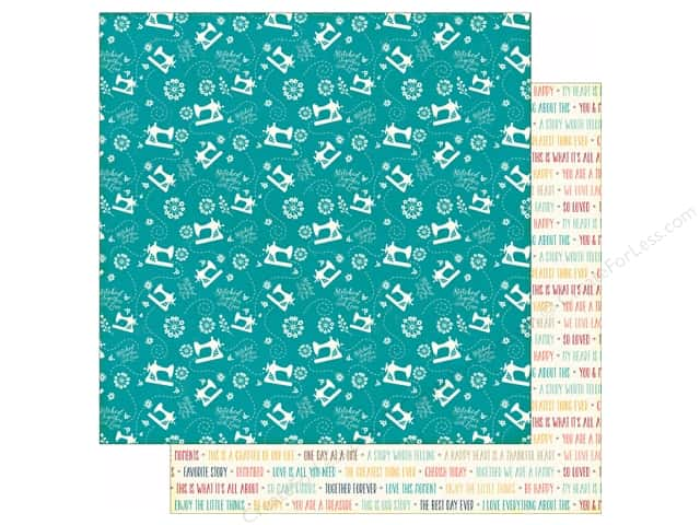 Echo Park 12 x 12 in. Paper Story Of Family Collection Sewing (25 sheets)