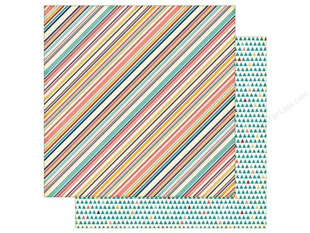 Echo Park 12 x 12 in. Paper Story Of Family Collection Multi Stripe (25 sheets)