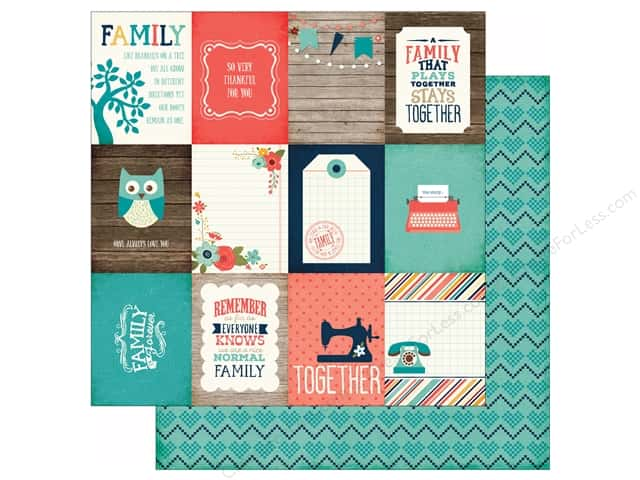 Echo Park 12 x 12 in. Paper Story Of Family Collection Journal Cards 3x4 (25 sheets)