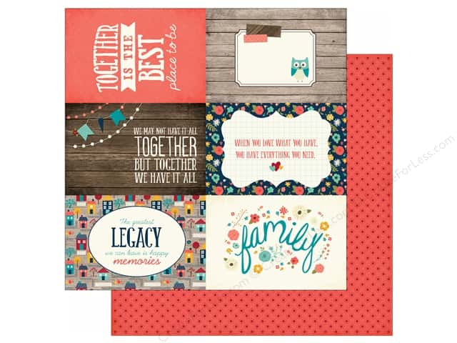 Echo Park 12 x 12 in. Paper Story Of Family Collection Journal Cards 4x6 (25 sheets)