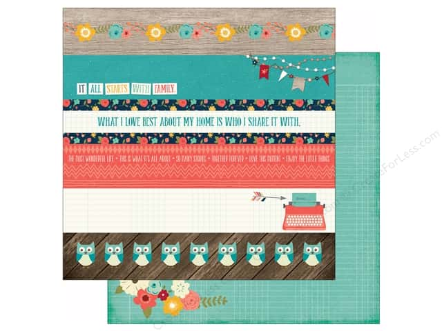 Echo Park 12 x 12 in. Paper Story Of Family Collection Borders (25 sheets)