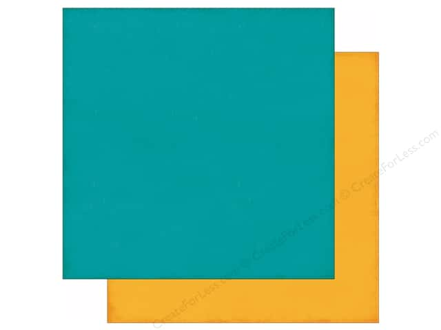 Echo Park 12 x 12 in. Paper Story Of Family Collection Teal/Mustard (25 sheets)