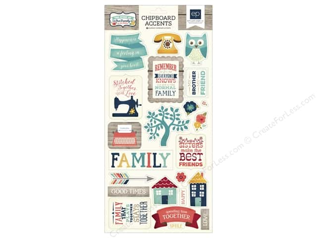 Echo Park Chipboard Accents Story Of Family