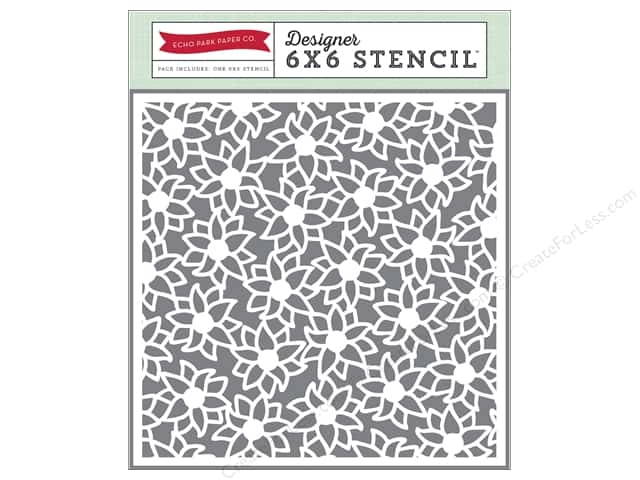 Echo Park Designer Stencil 6 x 6 in. Story Of Family Collection Family Floral