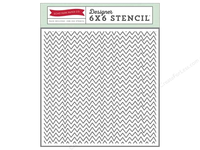 Echo Park Designer Stencil 6 x 6 in. Story Of Family Collection Zigzag