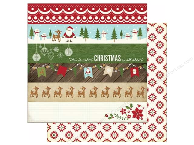 Echo Park 12 x 12 in. Paper Story Of Christmas Collection Borders (25 sheets)