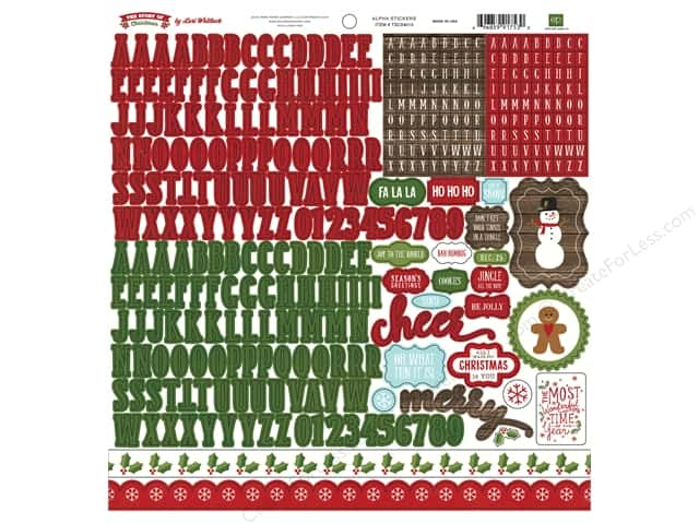Echo Park Sticker 12 x 12 in. Story Of Christmas Collection Sticker Alpha (15 sets)