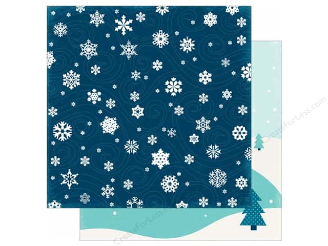 Echo Park 12 x 12 in. Paper Hello Winter Collection Frigid Blizzard (25 sheets)