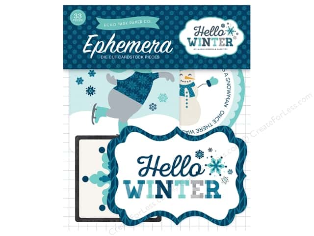 Echo Park Ephemera Pack Hello Winter Collection